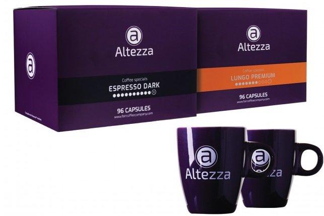192 Altezza Kapseln für Nespresso + 2 originale Altezza Tassen für 29,99€