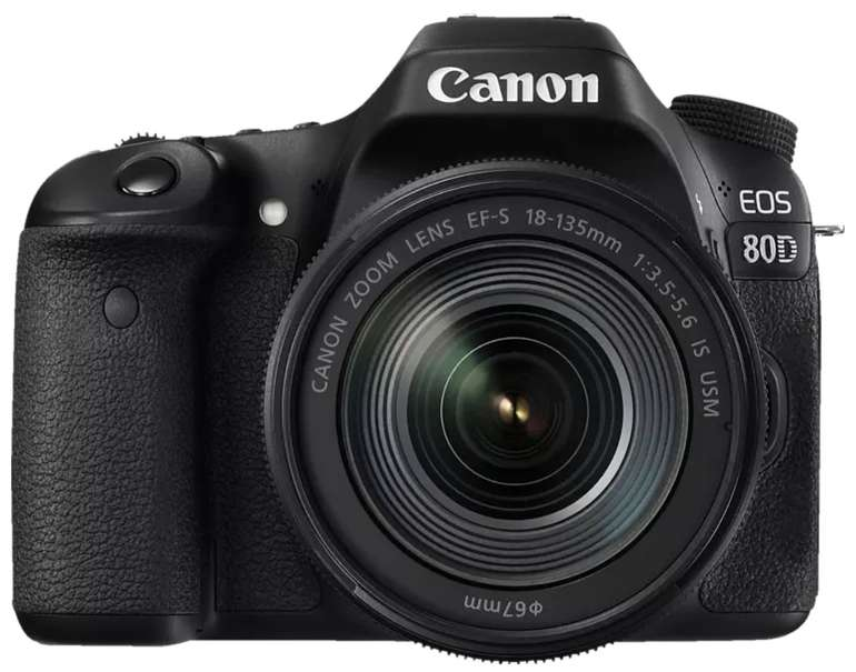 Canon EOS 80D Kit Spiegelreflexkamera (24.2 Megapixel, 18-135 mm Objektiv) für 973,83€ inkl. Versand