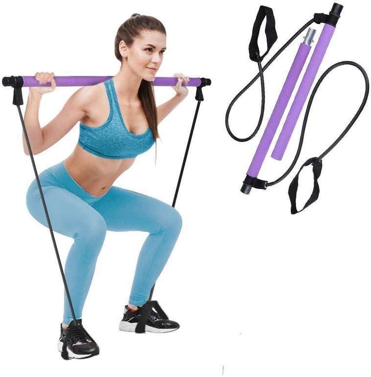 Charminer Pilates Bar Kit mit Widerstandsband für 12,59€ inkl. Prime Versand (statt 18€)
