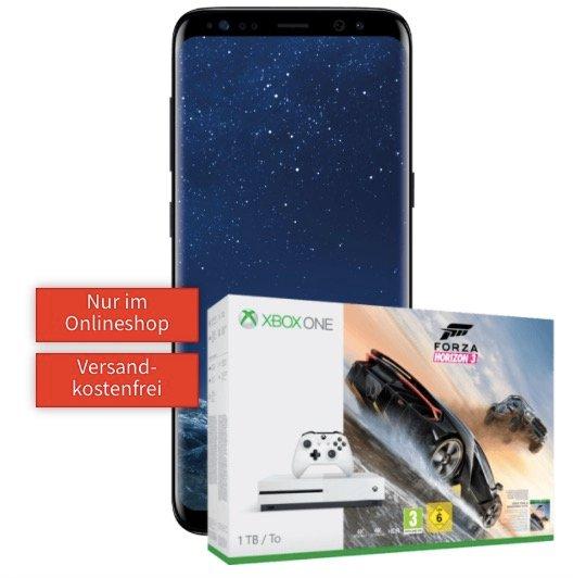 Galaxy S8 + Xbox One 1TB + Horizon zu 99€ + Vodafone 1GB Allnet zu 24,99€