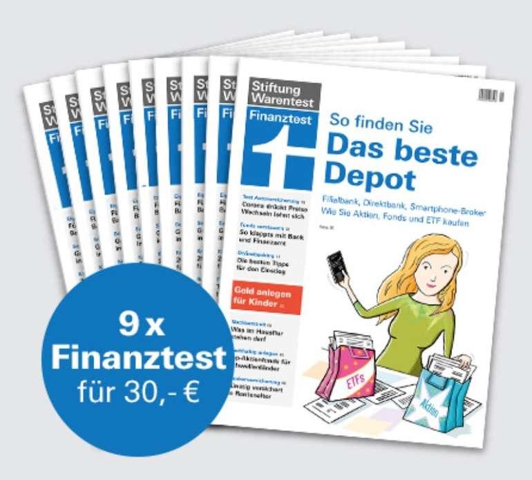 """9 Ausgaben Finanztest + Buch """"Alles über Fonds"""" + Notizbuch für insgesamt 30€"""