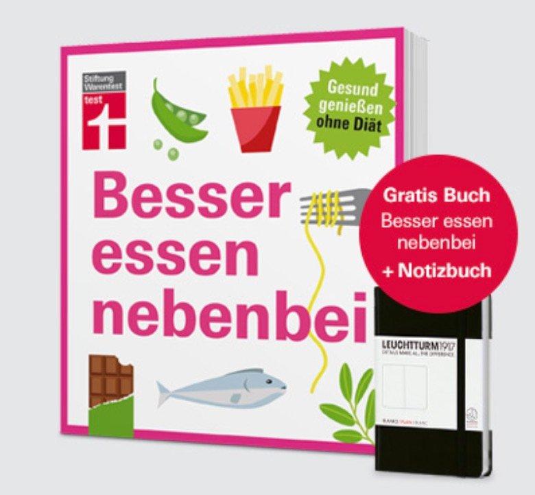 Abo: 9 Ausgaben Stiftung Warentest + Buch: Besser essen…