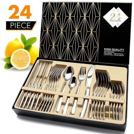 Elegant Life Besteck 24-teilige Besteck Set mit Geschenkbox für 20,49€ inkl. VSK