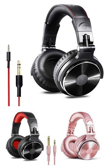 Verschiedene OneOdio Audio Kopfhörer reduziert, z.B. Schwarz mit roten Nähten für 16,99€