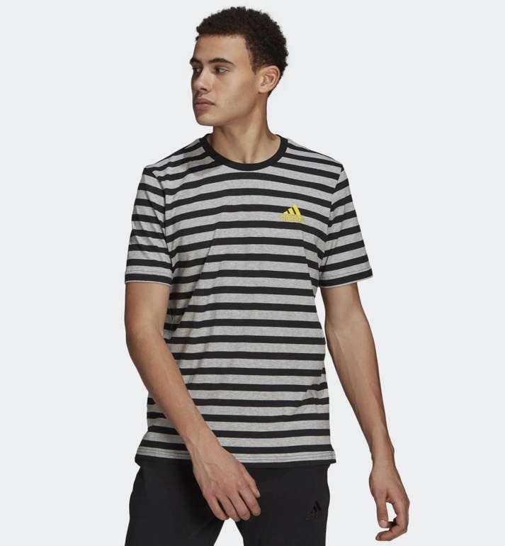 Adidas Essentials Stripey Embroidered Logo T-Shirt für 14,87€ (statt 24€) - Creators Club