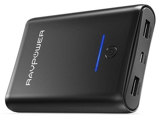 RAVPower 10000mAh Powerbank mit 2 USB Ausgängen für 8,44€ mit Prime