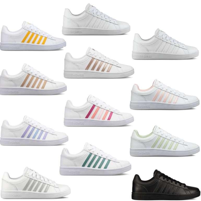 K-Swiss Court Winston - Damen Sneaker in Weiß für 29,90€ inkl. Versand (statt 36€)