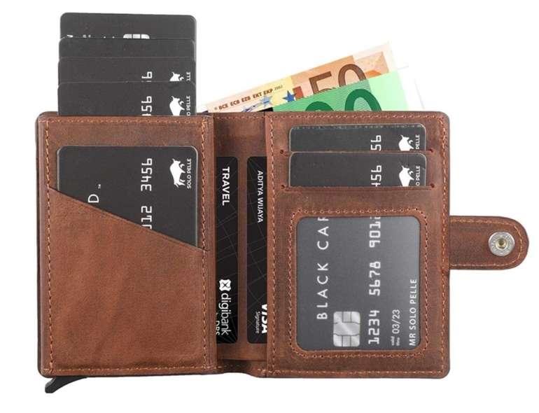 Solo Pelle Leder Geldbörse Q-Wallet mit integriertem Kartenetui für 29,90€ (statt 50€)