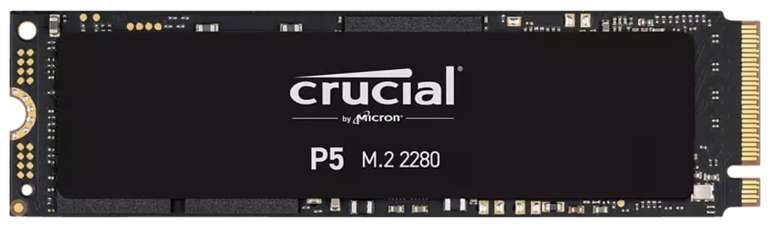 Crucial P5 1TB M.2 NVMe SSD (bis R3400/W3000, 3D TLC, 1GB DRAM, AES) für 97,99€ (statt 134€) - Newsletter!