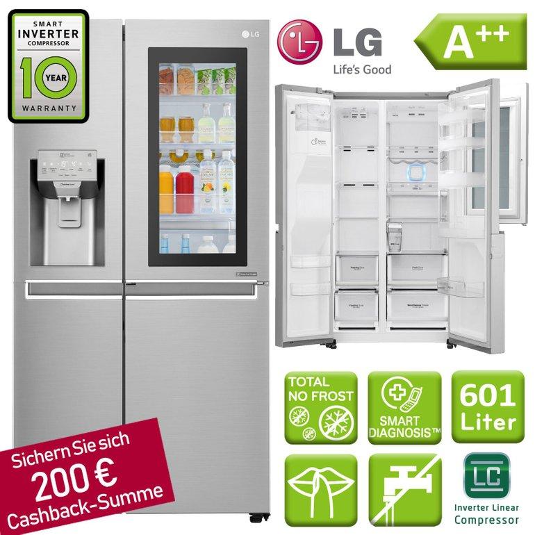 LG GSX971NEAZ Kühl-/Gefrierkombination mit A++ für 1.399,99€ inkl. Versand