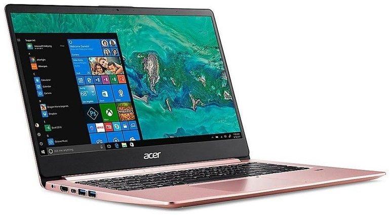 """Pinkes 14"""" Acer Swift 1 (SF114-32-P5L1) mit Silver N5000 und 64GB eMMC für 352€"""