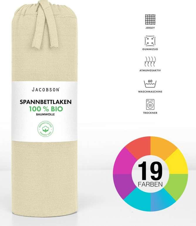 Jacobsen Spannbettlaken Jersey aus 100% BIO-Baumwolle für 11,99€inkl. Versand (statt 15€)