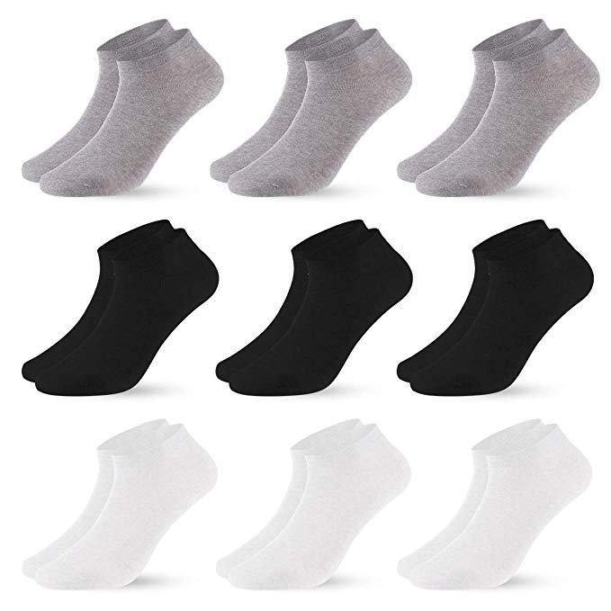 Vihir - 9er Pack Damen & Herren Sneaker Socken für 7,99€ inkl. Prime Versand (statt 14€)
