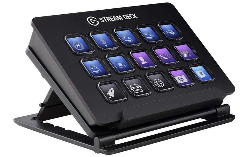 Elgato Stream Deck Live Content Creation Controller (mit personaliserbaren LCD-Tasten, einstellbaren Ständer) für 99,99€