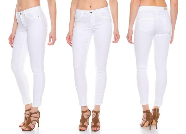 Only Damen Skinny Jeans mit Stretch in Weiß für 20,72€ inkl. Versand (statt 36€)