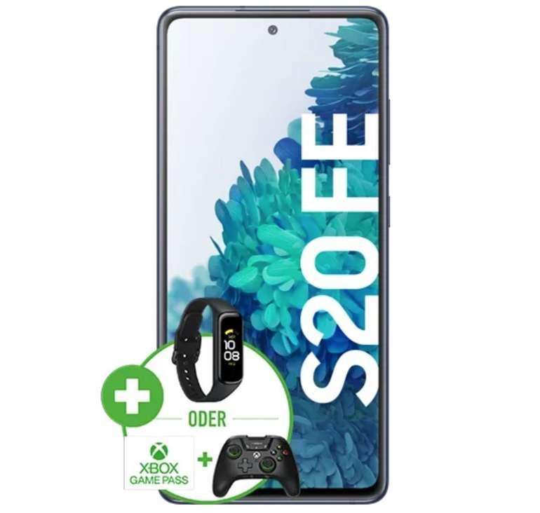 Samsung Galaxy S20 FE (49€) + Galaxy Fit 2 oder Xbox Gaming Paket + o2 Free L Allnet Flat mit 60GB LTE für 34,99€ mtl.