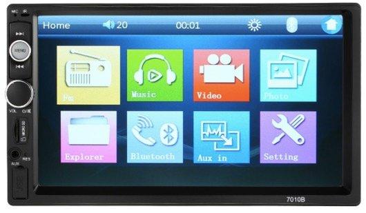 7 Zoll Universal Doppel-DIN HD Bluetooth Auto Radio für 34,39€ inkl. Versand