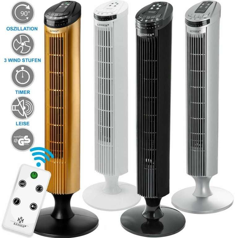 Kesser Turmventilator mit Fernbedienung in 4 Farben für je 24,80€ inkl. Versand (statt 35€)