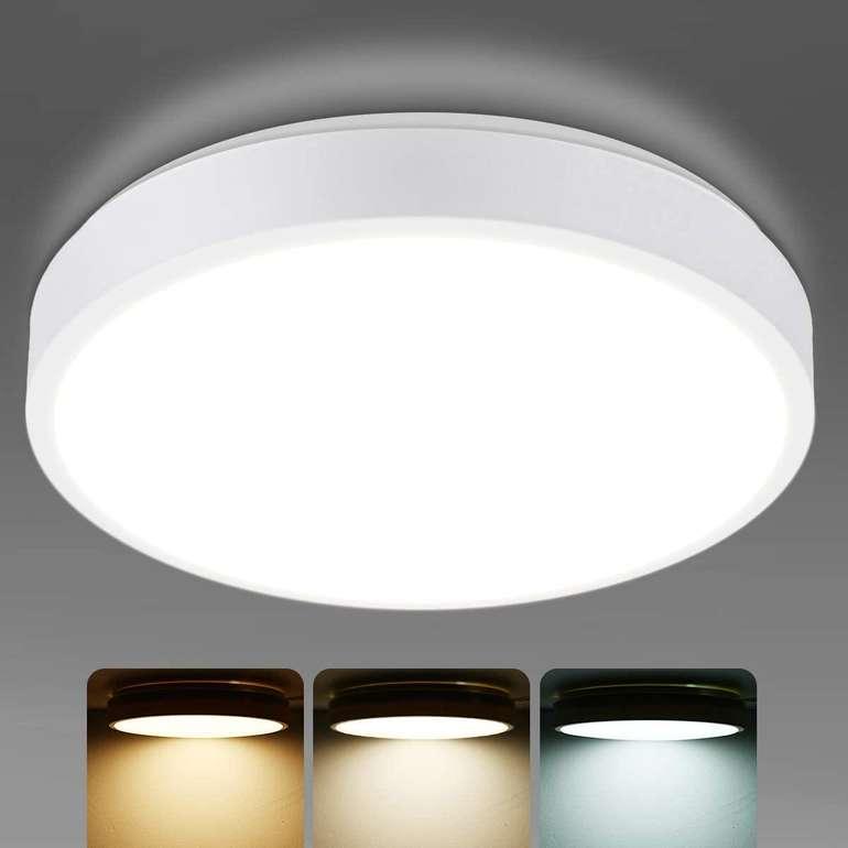 Kingso LED-Deckenleuchte (15W, dimmbar, IP54) für 11,99€ inkl. Prime Versand (statt 19€)