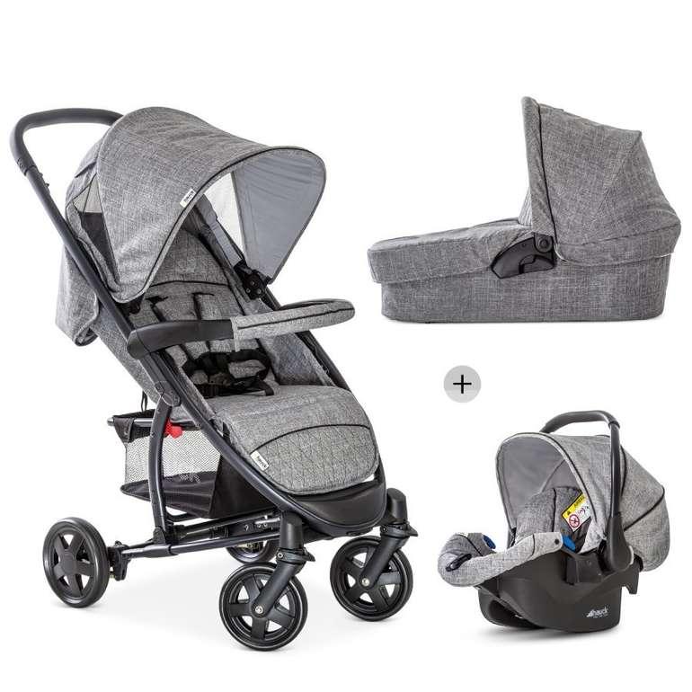 Babymarkt: Bis zu 12% auf alles was Räder hat, z.B. Hauck Malibu 4 Trio Set für 179,99€