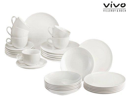"30-tlg. Vivo by Villeroy & Boch ""New Fresh Basic"" Porzellan Geschirrset für 75,90€ (statt 116€)"
