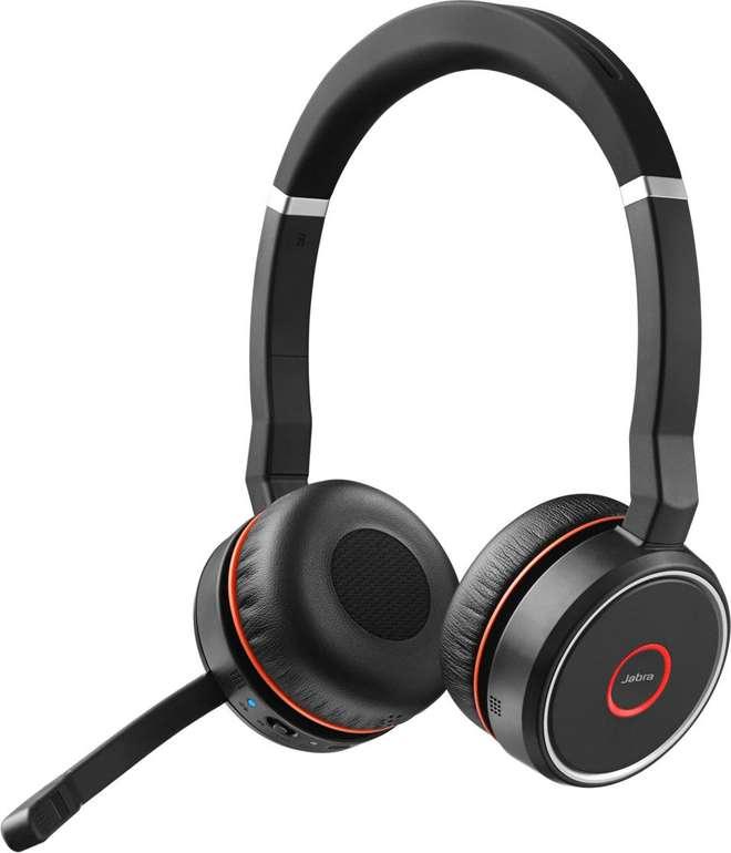 Jabra Evolve 75 MS Bluetooth Wireless ANC On-Ear Stereo-Headset für 56,43€