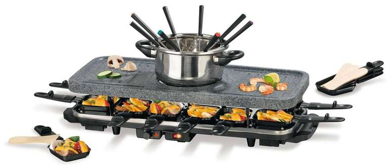 Gourmetmaxx Granitlook Raclette mit Fondue für 54,90€ inkl. Versand (statt 70€)