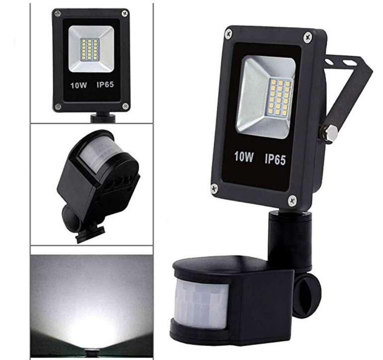 Wolketon 10W LED Strahler mit Bewegungsmelder und IP65-Schutz für 9,79€ mit Prime