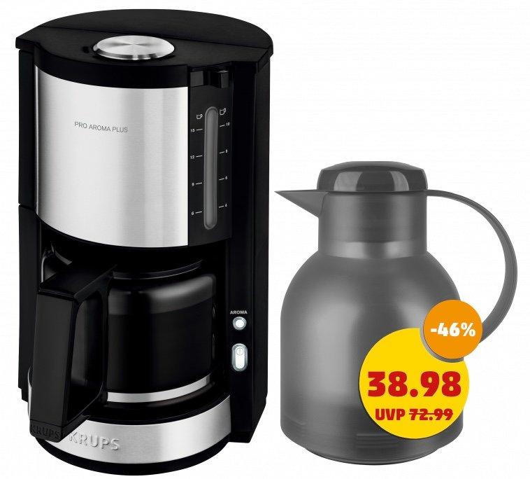 Krups ProAroma Plus KM3210 Kaffeemaschine + Emsa Samba Isolierkanne für 43,81€ inkl. Versand (statt 51€)