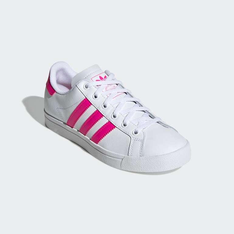 Adidas Originals Coast Star J/C Kinder Sneaker in weiß-pink für 29,94€ inkl. Versand (statt 41€)