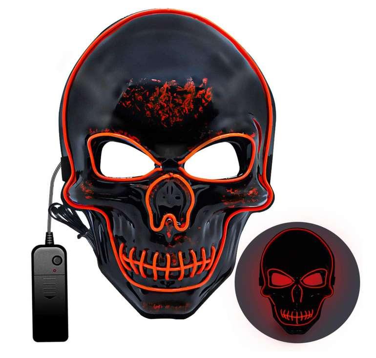 Halloween LED Maske mit 3 Beleuchtungsmodi für 6,94€inkl. Prime Versand (statt 14€)