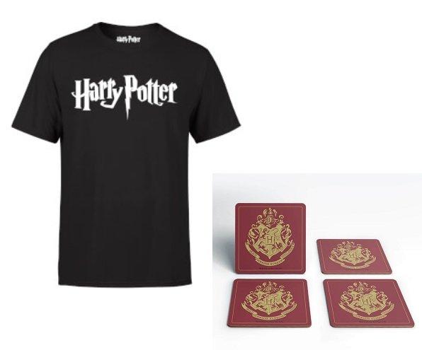 Harry Potter T-Shirt + 4er Set Untersetzer für 10,99€ inkl. Versandkosten