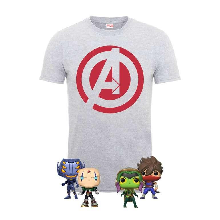 Marvel Avengers T-Shirt + 4 Pop! Figuren für 16,99€ inkl. VSK (statt 40€)