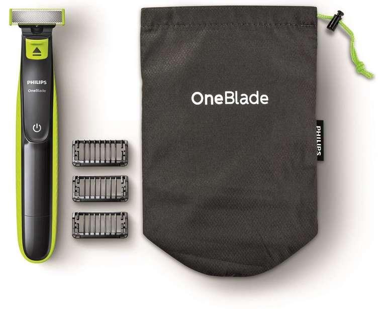 Philips OneBlade Gesicht QP2520/62 Rasierer mit Reisebeutel + 3 Aufsätze für 19,99€ mit Filiallieferung (statt 29,99€)