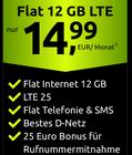Crash Allnet Flat im Telekom Netz mit 12GB LTE ab mtl. 14,99€ (LTE25- oder 50-Option) - auch mtl. kündbar