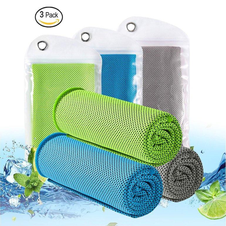 Kühlende Lebexy Sporthandtücher im 3er-Pack für 4,98€ inkl. Prime-Versand