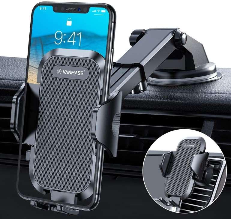 Vanmass KFZ Smartphone Halterung (Saugnapf & Befestigung an Lüftungsgitter) für 12,99€ inkl. Prime Versand