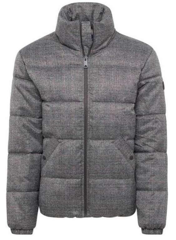 Esprit Herren Jacke 'Checked Puffa' in dunkelgrau für 38,70€ (statt 80€)