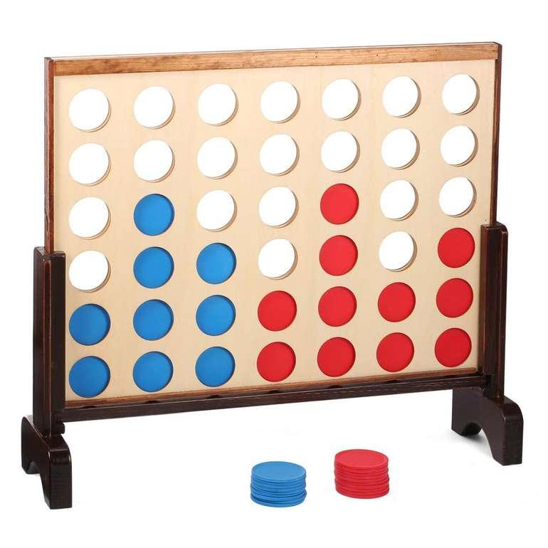 Shinehalo 'Vier gewinnt' Spiel aus Holz (81 x 79 x 71 cm, Tragetasche) für 19,80€ inkl. Versand