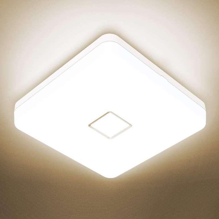 Onforu 24W LED Deckenleuchte (IP54, 2100 Lumen) für je 10,99€ inkl. Prime Versand (statt 22€)