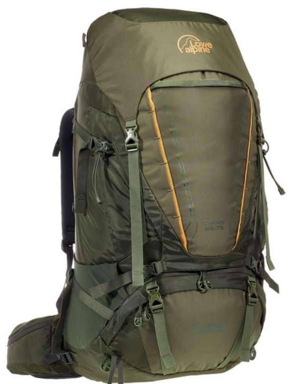 """Lowe Alpine Diran 65:75 Trekkingrucksack in """"Dark Olive"""" für 89,98€ inkl. Versand (statt 135€)"""