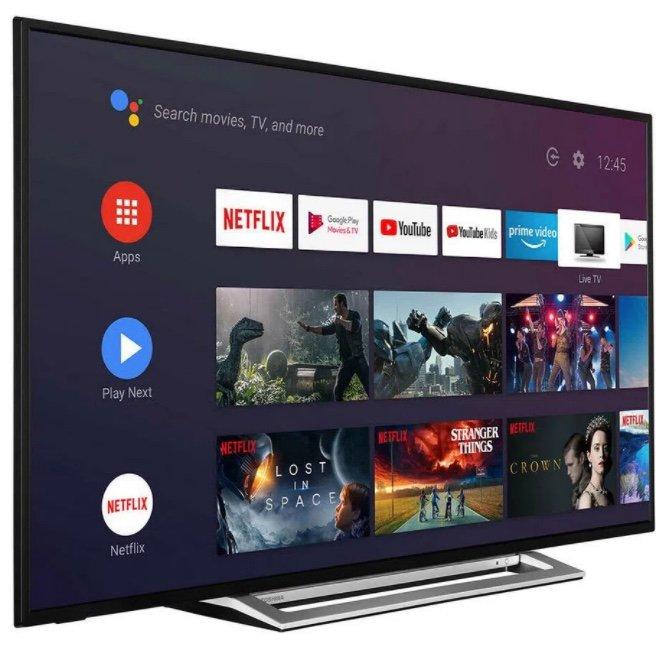 Toshiba UA3A63DG – 55 Zoll 4K UHD Smart-TV mit HDR und Android für 389€ inkl. Versand (statt 469€)