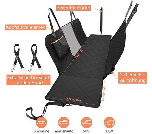 Omorc - Kofferraum & Rücksitzbankschutz für viele Anwendungsfälle für 19,99€