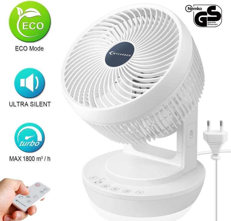 MyCarbon Ventilator (3D Luftumwälzer, 30 m², Timer) für 59,99€ inkl. Versand (statt 100€)
