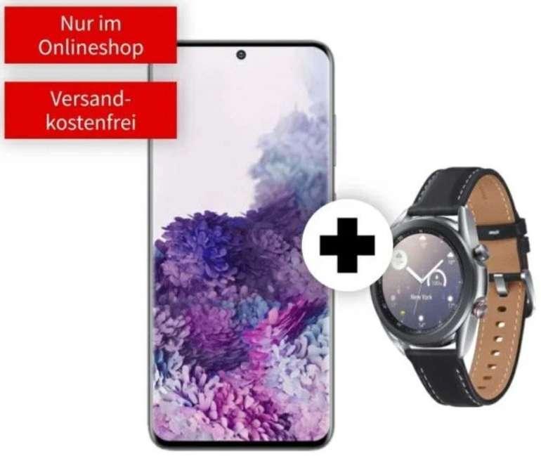 Samsung Galaxy S20 + Galaxy Watch 3 mit 41mm & LTE (99€) + Vodafone Allnet & SMS Flat mit 18GB LTE für 34,99€ mtl.