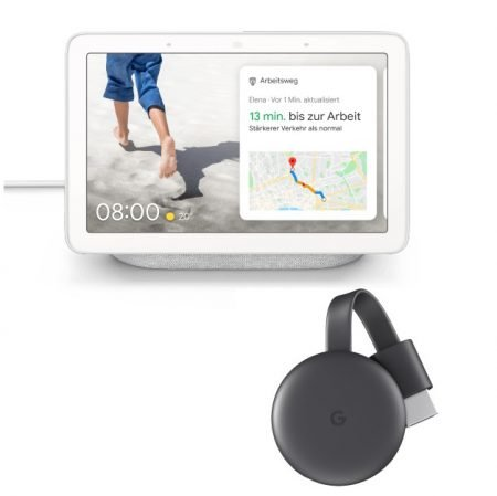 Google Nest Hub Smart Display + Google Chromecast 3. Generation für 129€