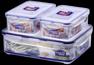 LOCK&LOCK HPL 834 SB Frischhalteboxen 3tlg. für 6€ inkl. VSK (statt 16,89€)