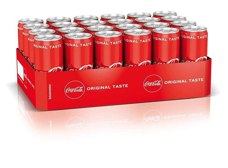 24er-Tray Coca Cola Dosen mit 330ml für 9,49€ + 6€ Pfand (Prime)