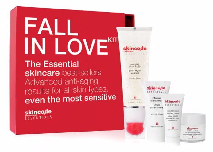"""Beauty-Schnäppchen: 4-tlg. Skincode Essentials """"Fall in Love"""" Set für 17,24€"""
