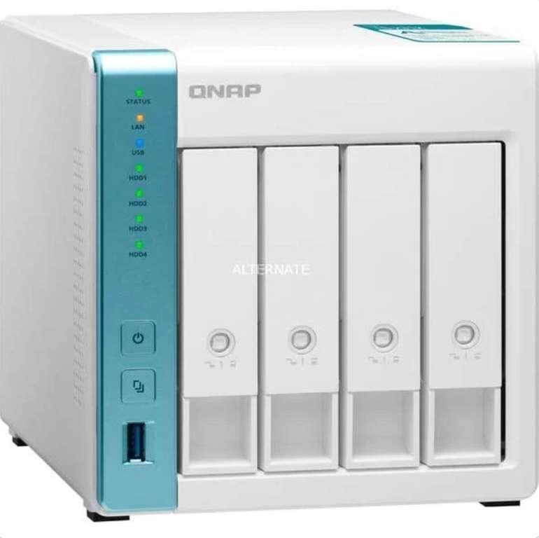 """QNAP 4-Bay NAS-Gehäuse TS-431K (4x 3.5""""/2.5"""", AL214, 1GB RAM, 2x Gigabit-LAN, 3x USB-A 3.0) für 205,99€"""